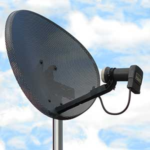Commercial digital satellite dish repairs