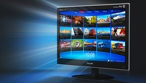 satellite tv screen