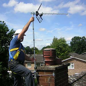 Domestic TV Aerial repair by Mark Hutton of MKH Aerials