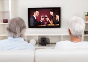 enjoying tv at home in solihull