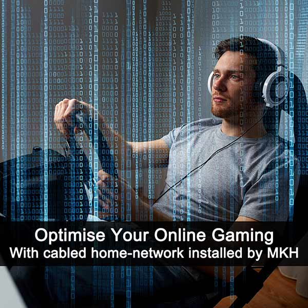 Gamer heaven with smooth hard-wired broadband connections to your PC