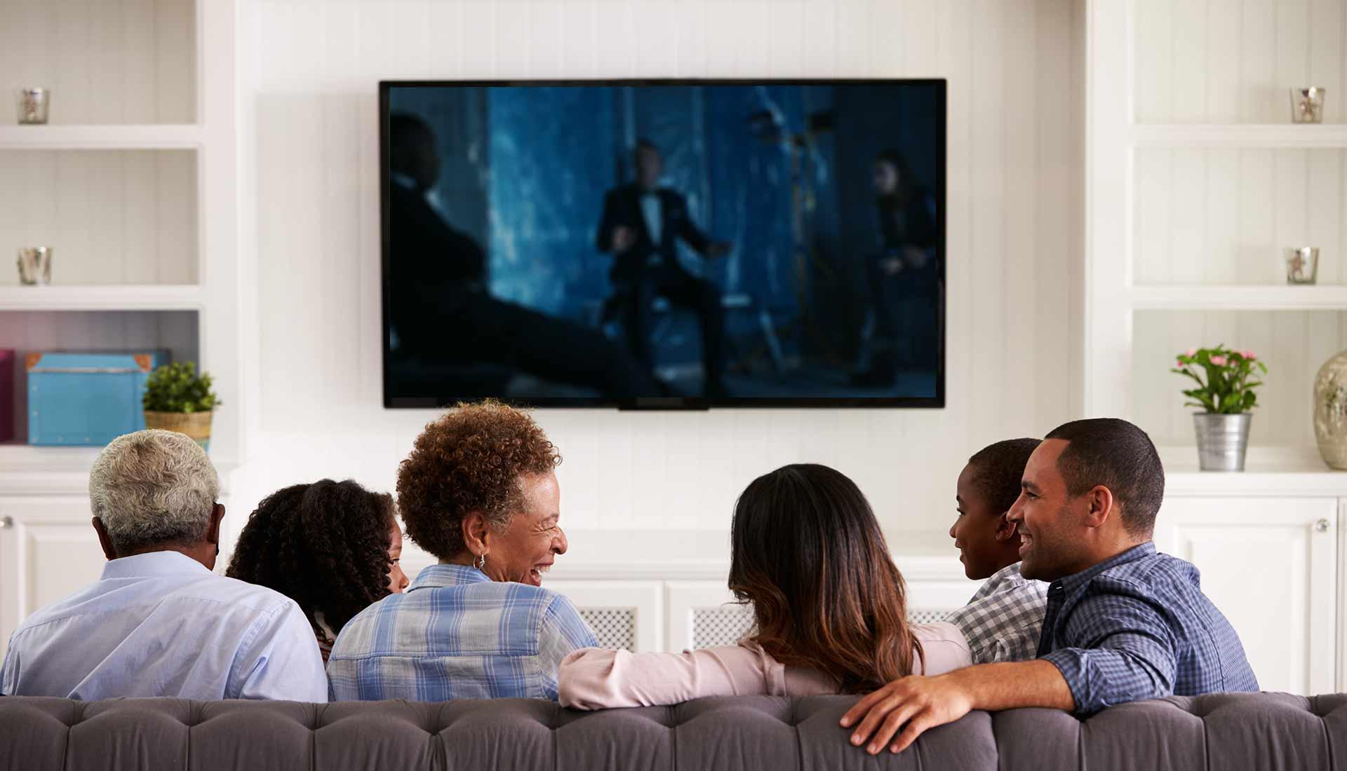 TV wall hanging brings elegance viewing comfort